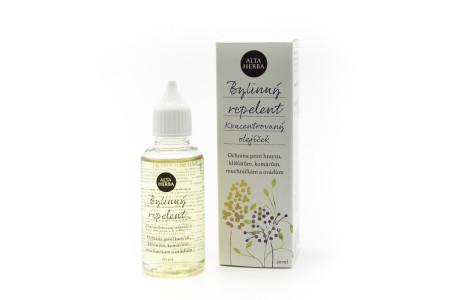 Bylinný repelent - koncentrovaný olejíček proti hmyzu, klíšťatům, komárům ...