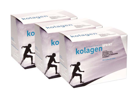 3x Kolagen SPRINT, žvýkací tablety