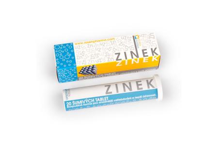Zinek - šumivé tablety